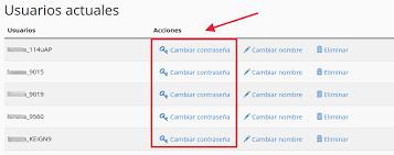 cambiar contraseña de bases de datos en cPanel