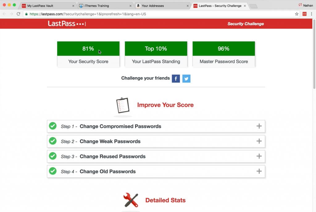 desafío de seguridad con LastPass