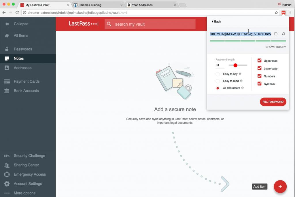 generar contraseña segura con LastPass