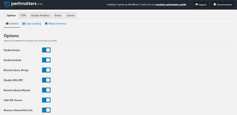 ocultar versión de WordPress con Perfmatters