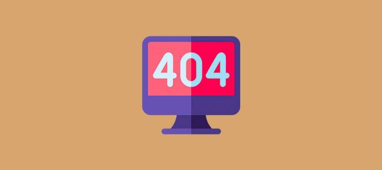 Cómo solucionar el error 404